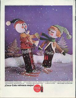 Anada Brillantez A La Temporada Con La Amistosa Coca Cola Ad 1964 in