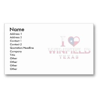 Reese Air Force Base, Texas Business Card