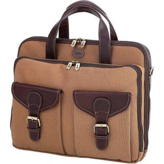 Canvas Womens Computer Tote Bag, Brown Laptop Shoulder Bookbag Purse w