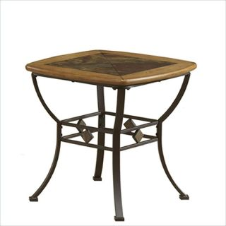 Hillsdale Lakeview Square Slat Top Brown Medium Oak End Table