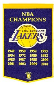 Los Angeles Lakers NBA Dynasty Wool Banner Pennant New