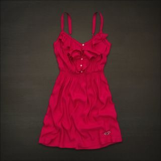 New Hollister by Abercrombie Fitch Laguna Hills Beach Mini Dress Red