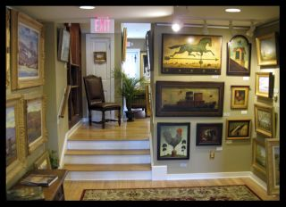FRATRICH Original TONALIST Oil Painting Landscape Tonal / style of