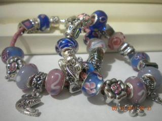 Authentic Pandora Bracelet w Mother DaughterTheme