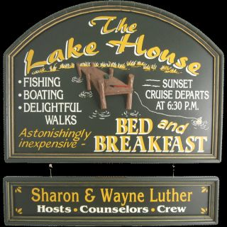 Handcrafted Wood Vacation Home Lake House Wall Decor Welcome Sign