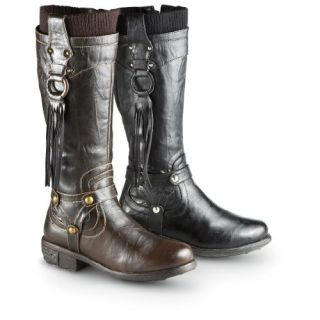 Apres LAMO Womens Vegan PU Suede Faux Wool Fur Polar Boots Size 9 Dark