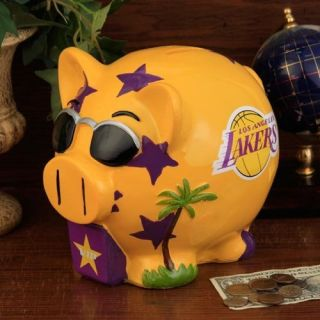 Los Angeles Lakers NBA Resin Large Thematic Piggy Bank New