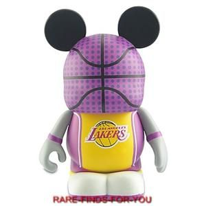 Vinylmation NBA Los Angeles Lakers Basketball 3 Figure Disney Parks