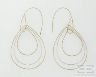 Lana Jewelry 14k White Yellow Rose Gold Teardrop Hoop Earrings New