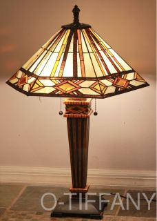 Tiffany Style Stained Glass Mission Lamp Tucson Shade Only