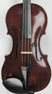 Fine Old 4 4 Violin Labeled Ladislav F Prokop 1942 Has Had Luthier