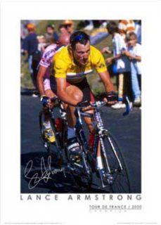 Lance Armstrong TOUR DE FRANCE CHAMPION 2000 Poster Print w/facs