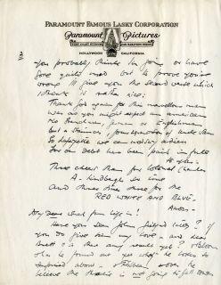 James Whale RARE Autograph Letter Signed