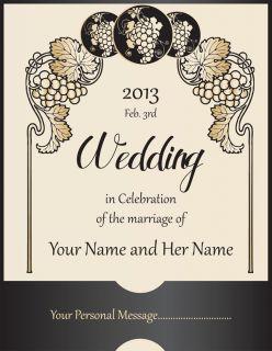 Personalized Custom Wedding Wine Labels Laser Printed Vintage