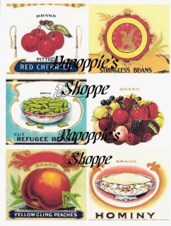 Vintage Label Stickers Repro Food Advertising Fruit VEG