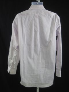 Lanesboro Mens Pink Striped Button Front Shirt Sz L