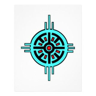 Native American Indian Art #013 Letterhead Design