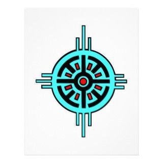Native American Indian Art #013 Letterhead Design