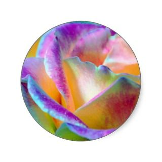 Rainbow Rose Flower Sticker