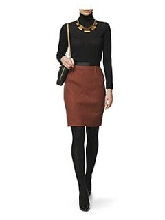 Jaeger Gia puppytooth pencil skirt Tomato