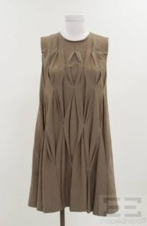 Roberta Furlanetto Brown Cotton Sleeveless Dress Size 40