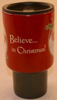 Santa Believe Lang Travel Mug Sherri Buck Baldwin