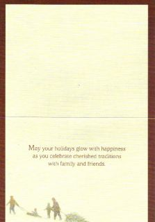 Lang Christmas Holiday Cards Boxed Snow Red Barn Farm Sled Tree Horse