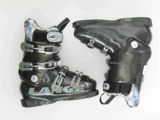 Used Lange Exclusive Blue Ski Boots Womens Size