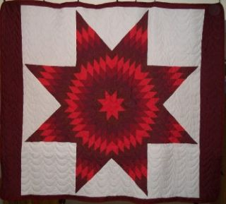 LAKOTA Sioux Native American Star Quilt 80 x 70
