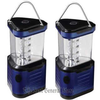 Blue 24 Bulb LED Camping Lantern Light Battery Operated Outdoor with