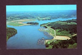 Oh Aerial Salt Fork Lake Marina Cambridge Ohio Postcard