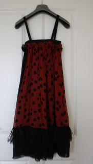 Lanvin Ete 2003 Runway Silk Chiffon Feather Dress 38