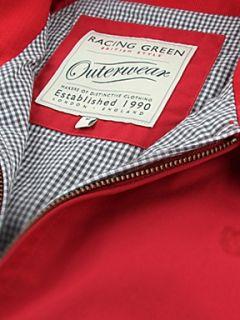 Racing Green Harrington jacket Red