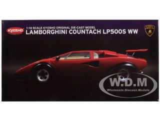 Lamborghini Countach LP500S Red Walter Wolf Edition 1 18 by Kyosho