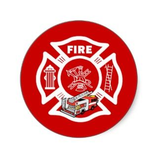 Red Fire Truck Rescue Sticker