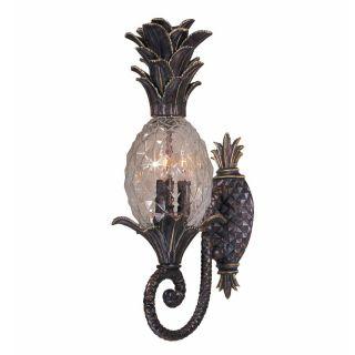 NEW 3 Light Tropical Outdoor Wall Lamp Lighting Fixture, Bronze