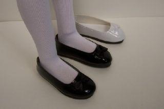 Black Patent Slipon Flats Doll Shoes for Lark Raven Wren♥