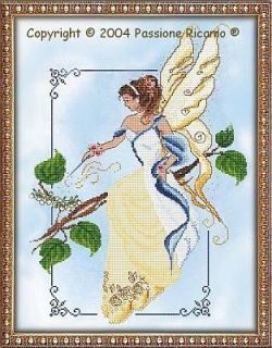 Passione Ricamo Summer Fairy Spirit Counted Cross Stitch Pattern Chart