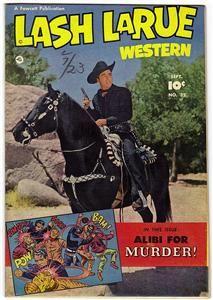Lash LaRue Western 32 September 1952 FN NM High Grade