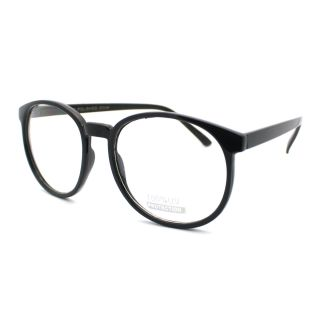 Nerd Thin Plastic Frame Large Round Clear Lens Eye Glasses New