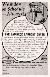 Antique W. E. Lamneck Laundry Dryer Drier Chores Household Appliance
