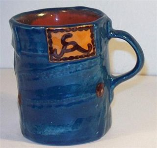 Original Buz Lapham Rumpled Blue Jeans Denim Mug Signed