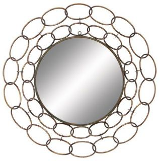 36 Large Round Metal Wall Hanging Mirror Iron Frame