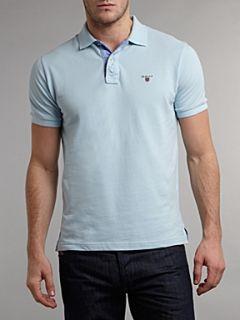 Gant Regular fit solid pique polo shirt Light Blue