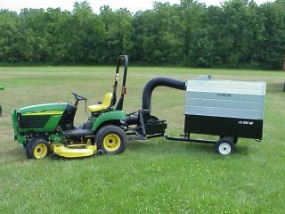 Vac Model 856 13 5HP Briggs 3 Point Hitch Lawn Mower Bagger Vacuum