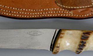 Loveless Lawndale California RAREST Narrow Tang Stag Hunting Knife