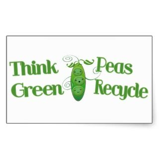 Green Peas Environment Recycle Sticker