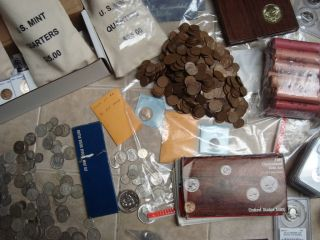 ESTATE SALE 40 COINS COLLECTION MINT, PROOF SET GRADED COIN SILVER BU