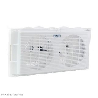 Lasko 2 Speed Electric 7 in Twin Window Air Fan Compact