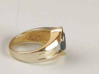 Laura Ramsey London Blue Topaz 3 14ct Diamond 07ct 14k Gold Ring